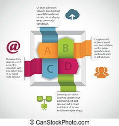 Abstract infographics element