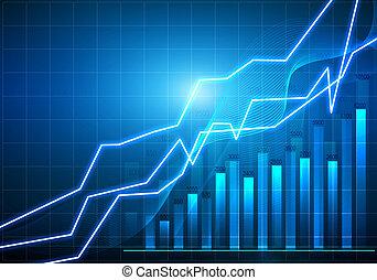 abstract, infographics, met, een, winst, tabel, op, de...