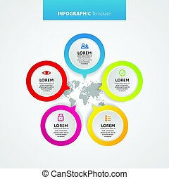 Abstract infographics number options template. Vector illustration. Can be used for workflow layout, diagram, business step options, banner, web design.