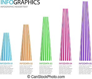 Abstract infographics template. Business data visualization.