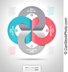 Abstract infographics template design with numbered paper...