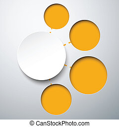 Abstract infographics with paper round notes. - Abstract...