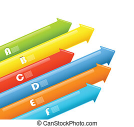 Abstract information arrow banners