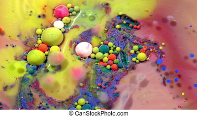 Abstract Ink Bubbles Explode Splash Diffusion