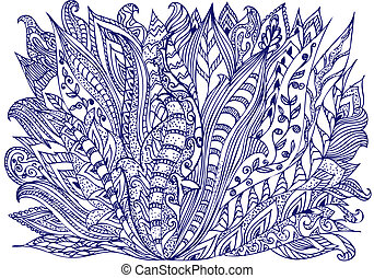 abstract ink designs doodle