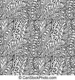 abstract ink designs doodle seamless
