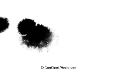 Abstract Ink Drops Explode Splash Diffusion
