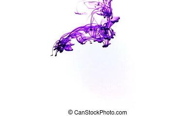 Abstract Ink Drops in Aquarium Water