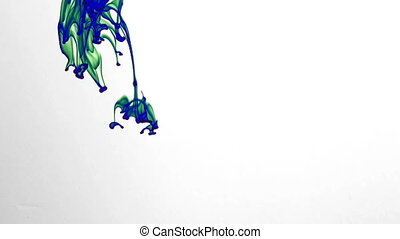 Abstract Ink Drops in Aquarium Water