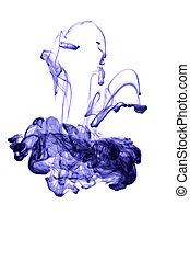 abstract ink in water isolated