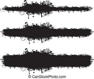 abstract ink splash banners