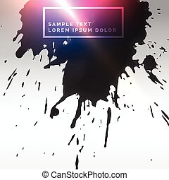 abstract ink splatter background with light effect