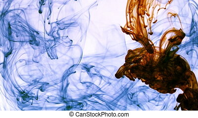 Abstract Ink Spread in Underwater