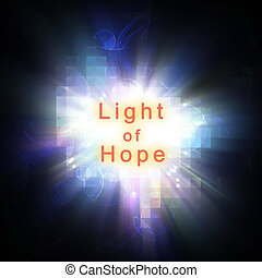 abstract inspiration life quote : light of hope, illustration background