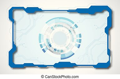 Abstract interface circuit board technology, vector background