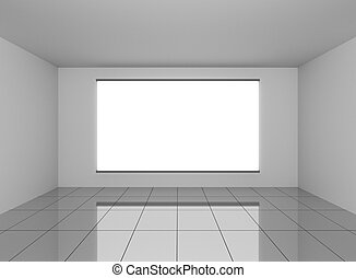 Abstract interior in room with blank white background
