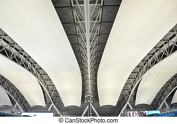 Abstract Interior of Kansai International Airport