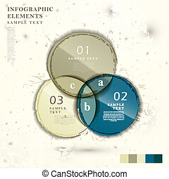 abstract intersection circle chart infographics
