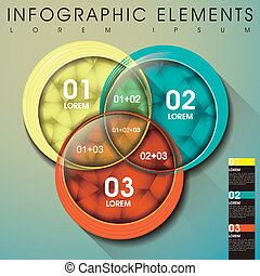 abstract intersection infographics