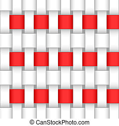 abstract red ribbons intertwined background