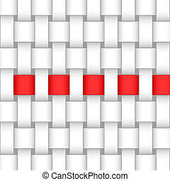 abstract interweave background and red ribbon