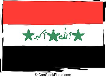 abstract IRAQ flag or banner vector illustration