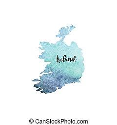 Abstract Ireland map