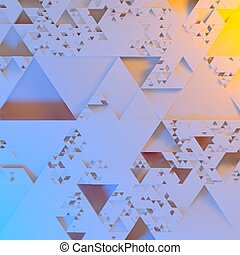 Abstract Irregular Futuristic architectural pattern, triangles 3d illustration background