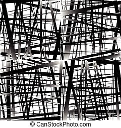 Abstract irregular straight lines pattern. Set of 4 version....