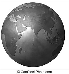 abstract isolated 3d globe illustration