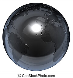 abstract isolated 3d globe