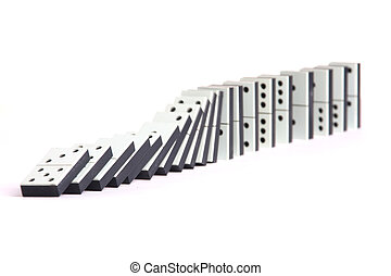abstract, isolated, dominoes