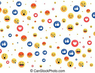 abstract isolated emoji background icons