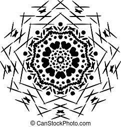 Abstract isolated mandala ornament.