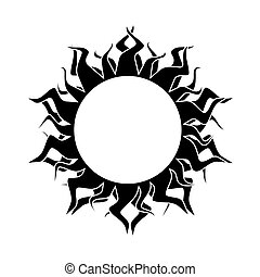 abstract isolated sun. vector.