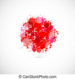 Abstract Japan Flag Background