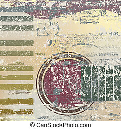 abstract jazz background piano keys and guitar