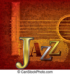 Abstract jazz music background - Abstract cracked jazz music...