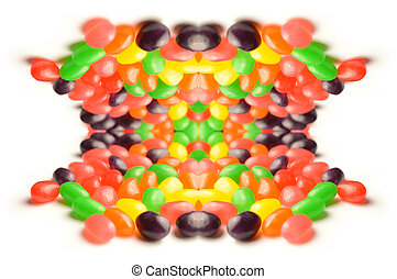 Abstract Jelly Bean Background