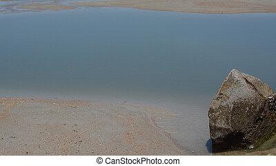 Abstract, Jetty Breakwater on Fernandina Beach, Fort Clinch State Park, Nassau County, Florida USA