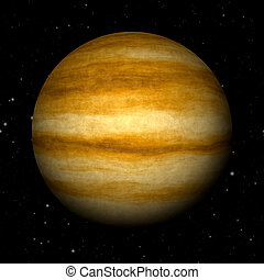Abstract Jupiter planet generated texture background
