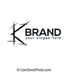 Abstract K Logo. flat design. Vector Illustration on white background