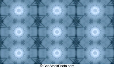 Abstract kaleidoscope motion background. Blue gray white...