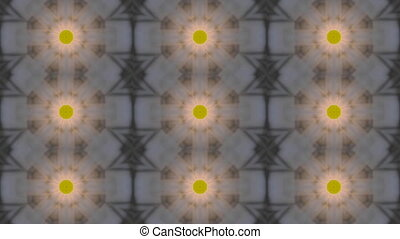 Abstract kaleidoscope motion background. Blue gray yellow...