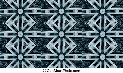 Abstract kaleidoscope motion background. Sequence graphics...