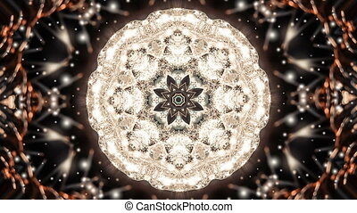 Abstract kaleidoscope motion background. Sequence...