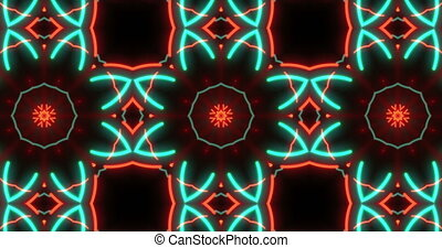 Abstract kaleidoscopic pattern seamless animation