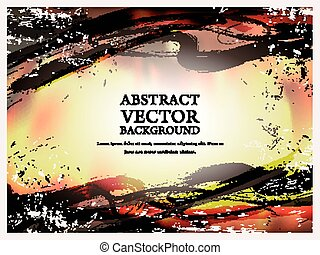 abstract, kalligrafie, stijl, achtergrond