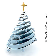 abstract, kerstboom