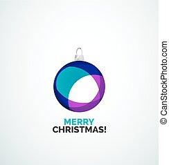 abstract, -, kerstmis, vrolijk, bal, bauble, kaart